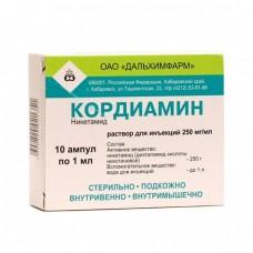 "Кордиамин р-р  25% - 1 мл N 10  амп."""